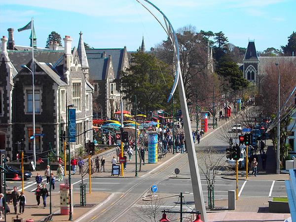 Vista desde la galería de arte moderno de Christchurch (Nueva Zelanda). Foto: denisbin (CC BY-ND 2.0).