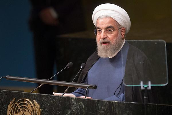 Hassan Rouhani, presidente de Irán, durante su discurso ante la Asamblea General de Naciones Unidas en 2015. Foto: UN Photo/Loey Felipe (CC BY-NC-ND 2.0)