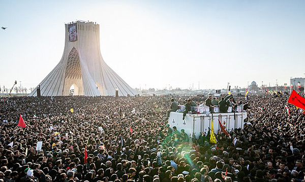 Funeral de Qasem Soleimani en Teherán. Foto: Mehr News Agency (Wikimedia Commons / CC BY 4.0)